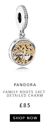 Family Roots 14ct Detailed Charm